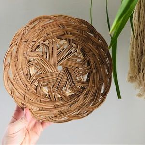 Flat Wicker Rattan Basket Wall Decor